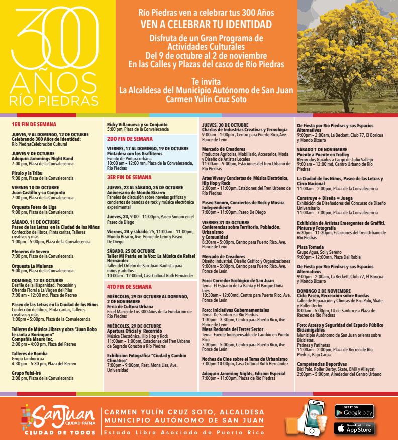 UPR se une a la celebración de los 300 años de Río Piedras