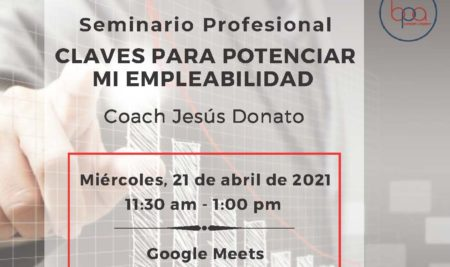 """Invitación a Seminario Profesional: """"CLAVES PARA POTENCIAR MI EMPLEABILIDAD"""""""